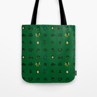 turtles Tote Bags featuring Turtles by AboveOrdinaryArts
