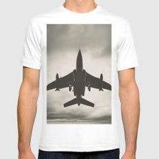 Fighting the Skies MEDIUM Mens Fitted Tee White