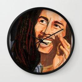 """One Love"" Digital, 2018. Original Digital Watercolor Painting, Marley Wall Clock"