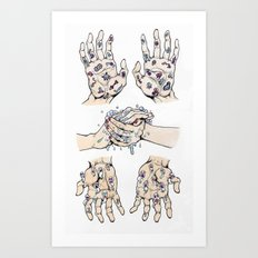 Germs Art Print
