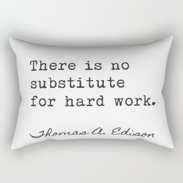 Thomas Edison great quote 100 Rectangular Pillow