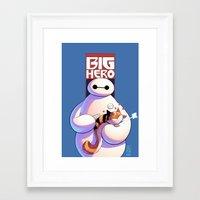 big hero 6 Framed Art Prints featuring Baymax - Big Hero 6 by J Skipper