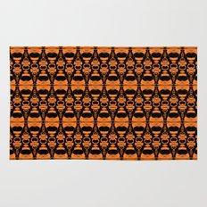 Dividers 02 in Orange Brown over Black Rug