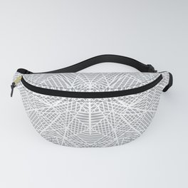 Abstract Lace on Grey Fanny Pack