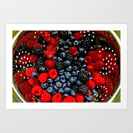 Colander Full of Fruit Art Print