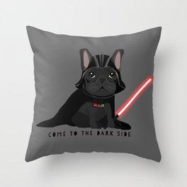 French Baconator Dark Side Throw Pillow