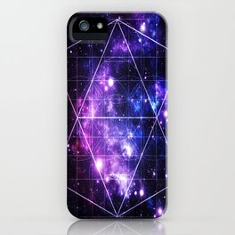 galaxy sacred geometry iPhone Case