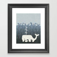 There She Blows Framed Art Print
