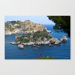 Isola Bella Bay of Taormina on the Isle of Sicily Canvas Print