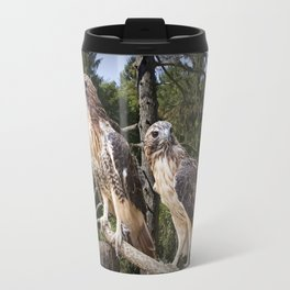 Pair of Red-tail Hawks Travel Mug