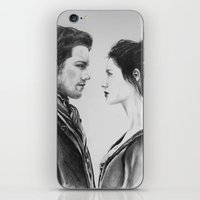 outlander iPhone & iPod Skins featuring Jamie and Claire ~ Outlander by Helenfaerieart