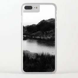 Fairy Glen, Isle of Skye, B/W Clear iPhone Case