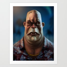 Mike Tyson Punch Out- King Hippo Art Print