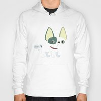 frenchie Hoodies featuring Frenchie by Fabio Rex