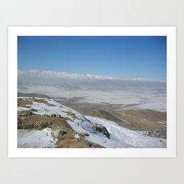 The plains to Bagram Art Print
