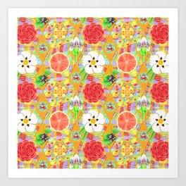 4160 Tuesdays Rainbow Botanicals Art Print