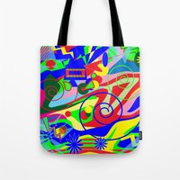 graffiti Tote Bags featuring Graffiti by DesignsByMarly