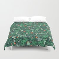plants Duvet Covers featuring plants by Jordan Walsh