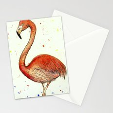 Colourful Flamingo  Stationery Cards