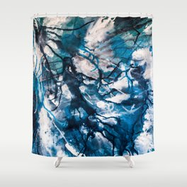 For she is the storm Shower Curtain