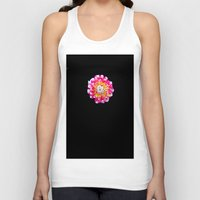 dahlia Tank Tops featuring Dahlia by Trevor Jolley