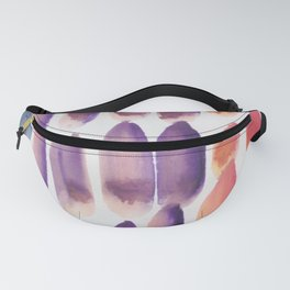 37 | 190330 Watercolour Abstract Brush Strokes Fanny Pack