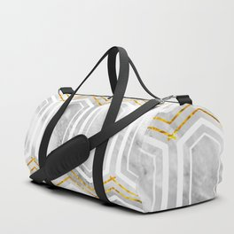 marble tiles on gold foil Duffle Bag