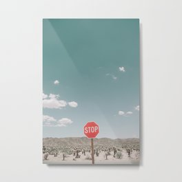 A STOP IN THE DESERT Metal Print