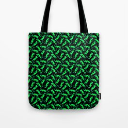 Beautiful bright glowing green artistic lizards. Reptiles. Gift ideas animal lovers. Lizard pattern Tote Bag