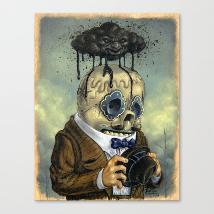 Bad Calavera Time Canvas Print