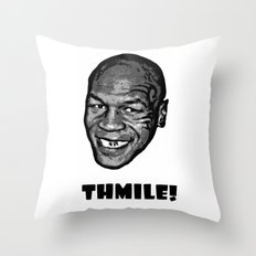 MIKE TYSON  |  THMILE! Throw Pillow