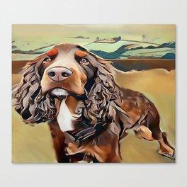 The Field Spaniel Canvas Print