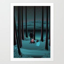 Long Talks Short Nights Art Print
