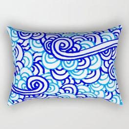 Blue Swirls Rectangular Pillow