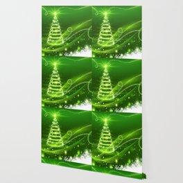Christmas Tree and Snowflakes Wallpaper