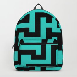 Black and Turquoise Labyrinth Backpack