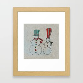 Snowmen Framed Art Print