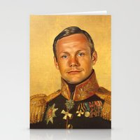 neil gaiman Stationery Cards featuring Neil Armstrong - replaceface by replaceface