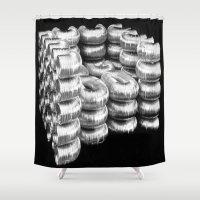 daria Shower Curtains featuring AIR DUCT CHAIR BY DARIA PIRNIA by Daria Pirnia