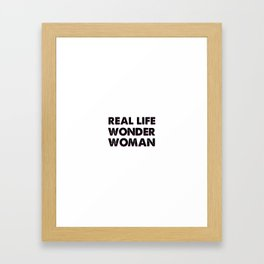 We Are The Heroes Framed Art Print