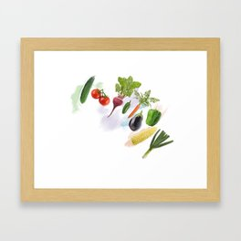 Digital Painting of  Fresh Vegetables Framed Art Print
