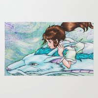 spirited away Area & Throw Rugs featuring Spirited Away by Kimberly Castello