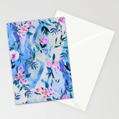 Floral Marble Swirl Stationery Cards
