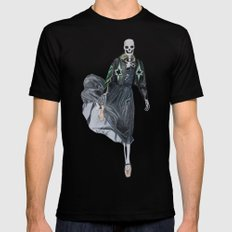 leather & ballet skeleton SMALL Black Mens Fitted Tee