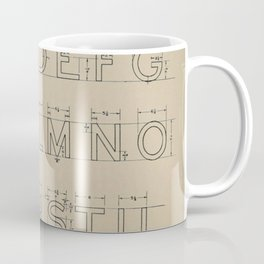 Vintage Block Font Coffee Mug