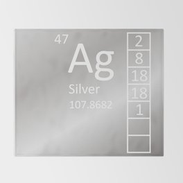 Heavy Metals - Silver Throw Blanket