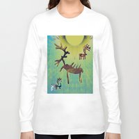 reindeer Long Sleeve T-shirts featuring reindeer by donphil