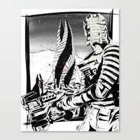 dead space Canvas Prints featuring Dead Space by Averagejoeart