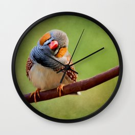Bird Art - Change Your Opinions Wall Clock