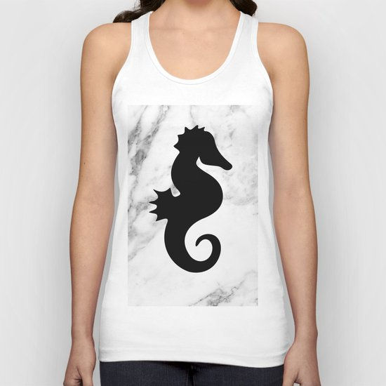 Marble seahorse Unisex Tank Top